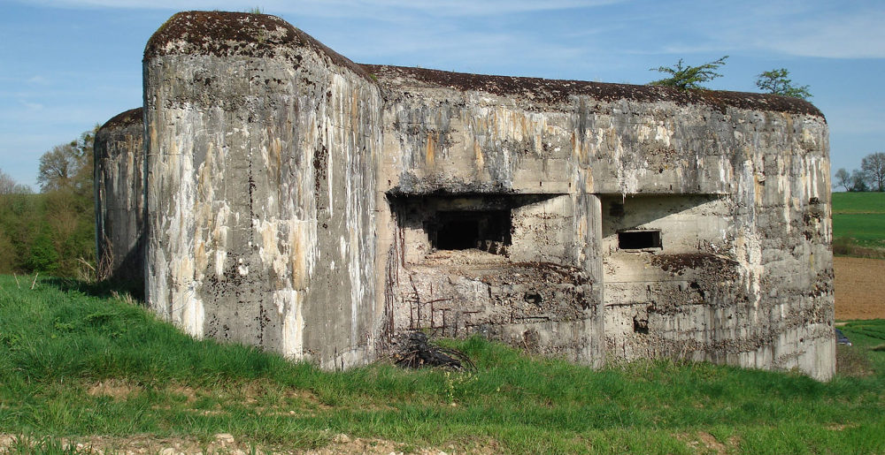 artillary Blockhouse Maginot Line defences, Sedan France